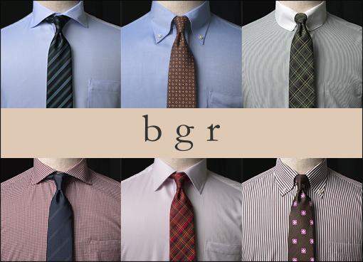 【bgr】shirts & tie 秋のおすすめVゾーンコーディネート