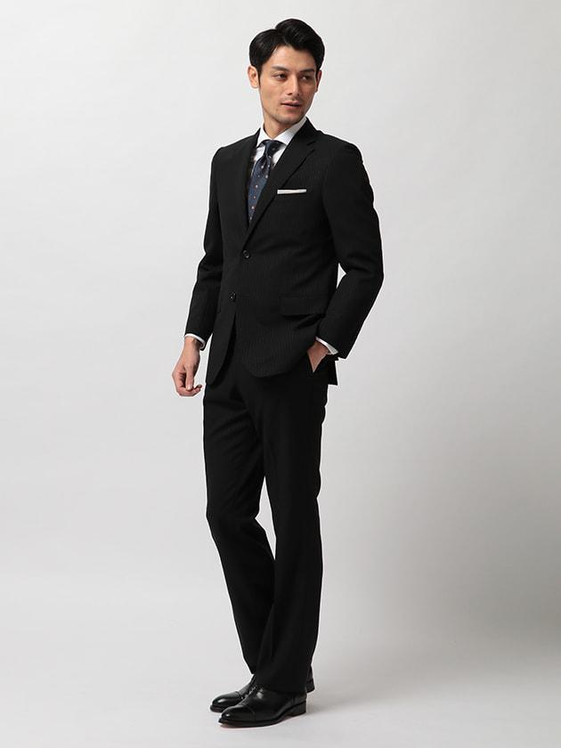 【MONSOON®】ウールモヘヤ ストライプ柄 スーツ