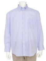 【オーパス】ブルーストライプボタンダウンドレスシャツ