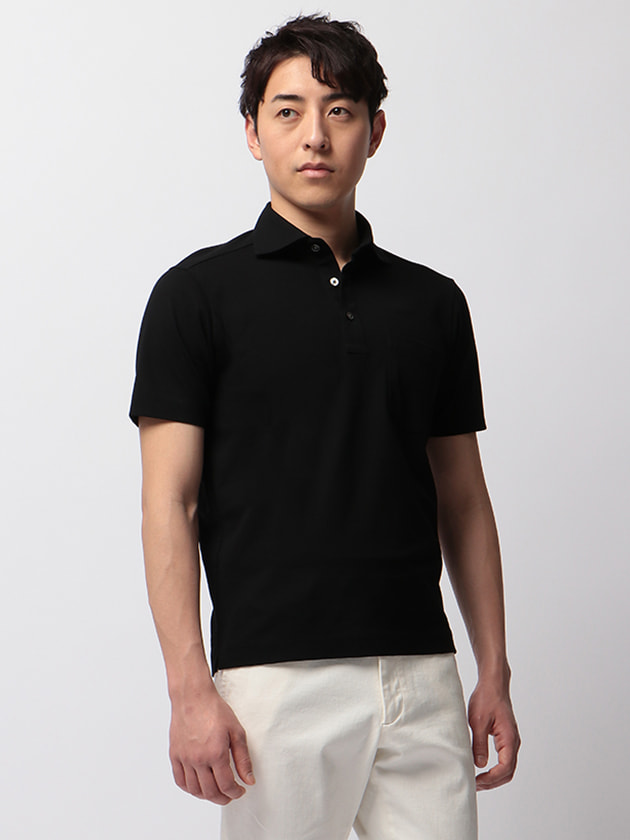 【MONSOON®】コットン素材半袖ポロシャツ