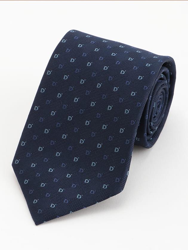 Dロゴ×小紋柄 ネクタイ