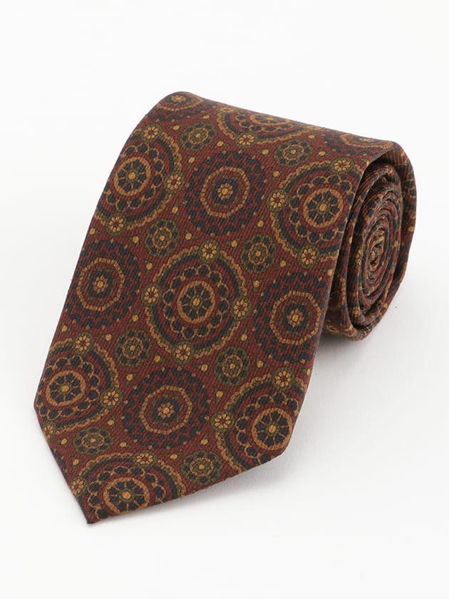 小紋プリント柄 ネクタイ