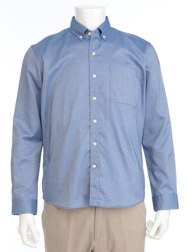 【紳士大きいサイズ】【シンプルライフ】Universal ClothingロイヤルオックスBDシャツ