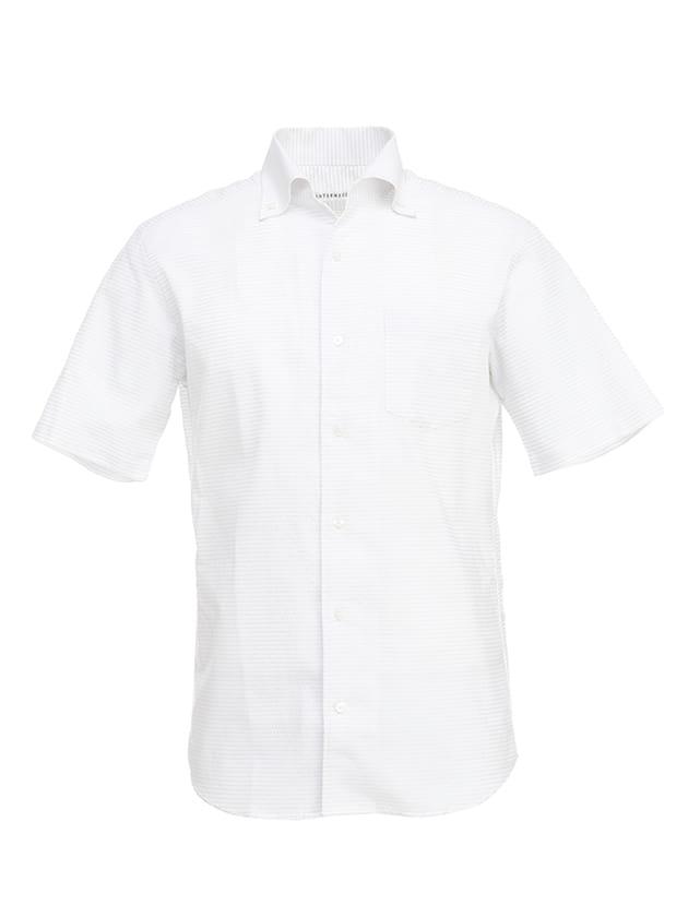 無地調ドットシャツ
