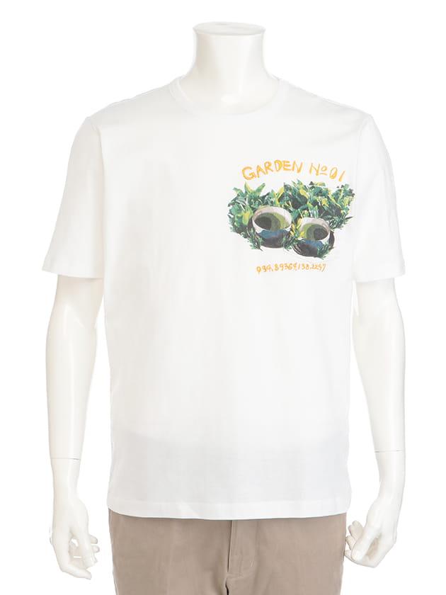 【紳士大きいサイズ】【インターメッツォ】中村家コラボ:茶畑プリントTシャツ