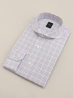 【BGR Slim-fit】ホリゾンタルブルー×レッドタッターソールドレスシャツ