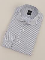 【BGR Slim-fit】カッタウェイ グレーストライプベーシックドレスシャツ