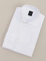 【BGR Slim-fit】カッタウェイ ベーシックホワイトシャドーストライプドレスシャツ