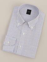 【BGR Slim-fit】ボタンダウンブラウン×ブルータッターソールドレスシャツ