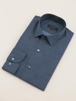 【D'URBAN BLACK】ショートレギュラー サークルプリントドレスシャツ