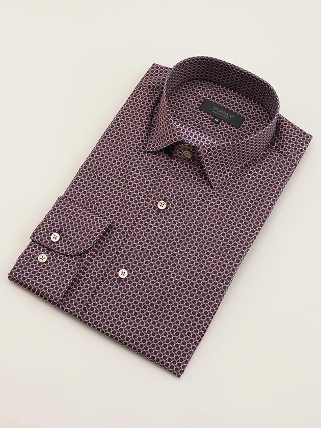【D'URBAN BLACK】サークルプリントドレスシャツ