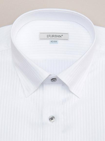 【D'URBAN WHITE】<br>スナップダウンホワイドドビーシャツ