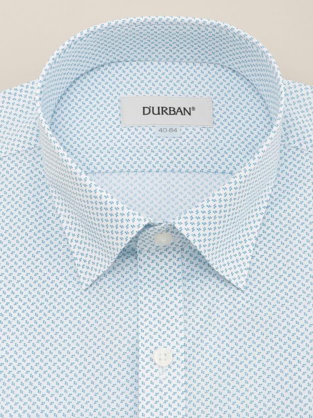 【D'URBAN WHITE】<br>ショートスナップダウンブループリントドレスシャツ