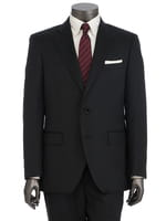 【REDA社生地】ブラックシャドウヘリンボン柄スーツ