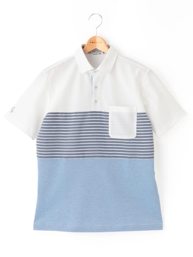 【SNOOPY】 カノコ切替半袖ポロシャツ