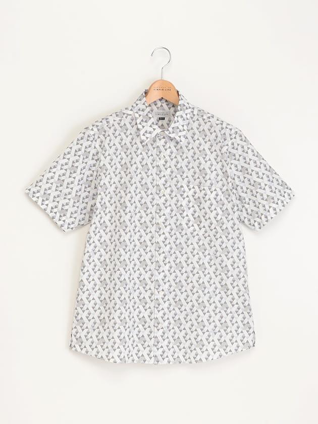 【SNOOPY】ジオメトリック柄半袖シャツ
