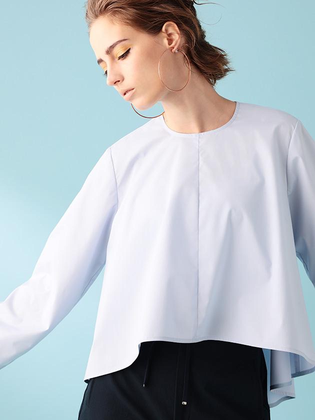 【ニット】ウール ショート丈 ケーブル編み