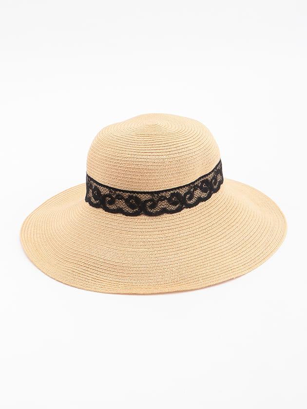 レースリボン帽子