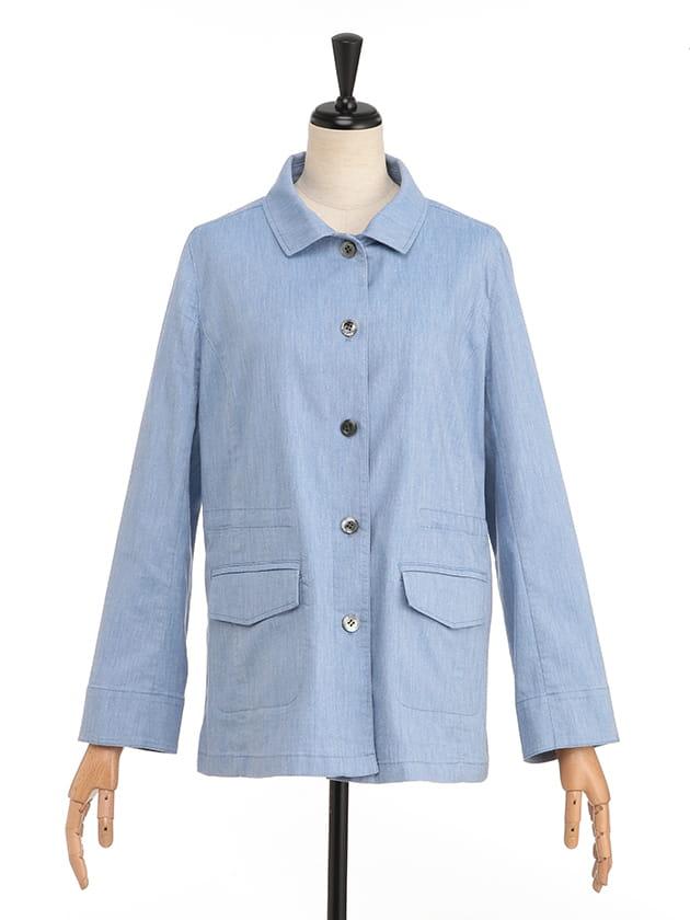 綿麻カルゼスプリングジャケット