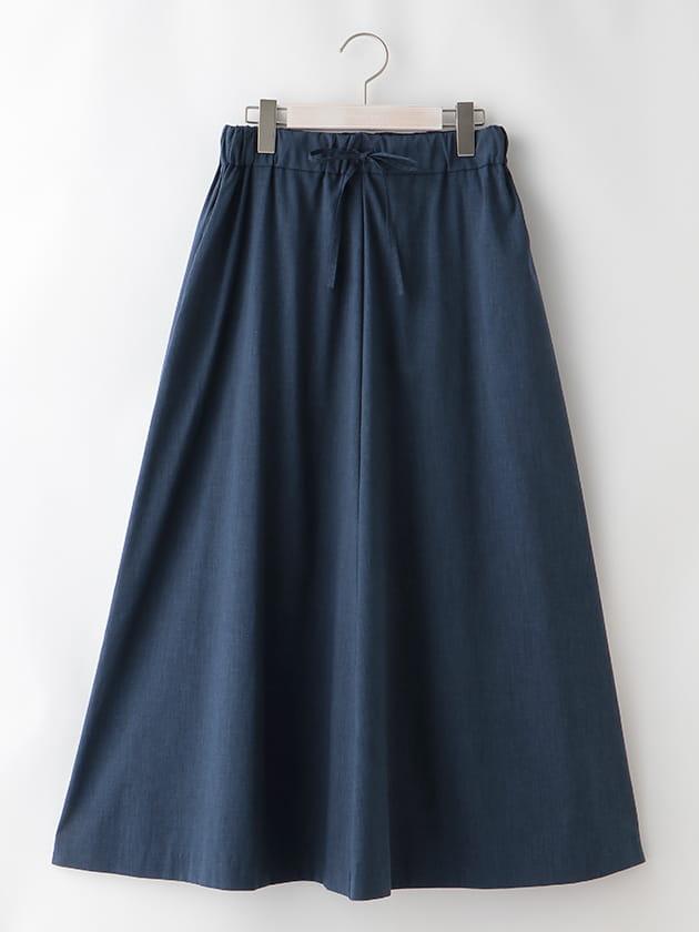 麻混フレアスカート