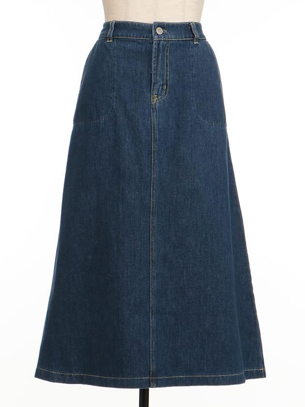 【シンプルライフ】【SUSTAINABLE CLOSET】ソフトデニムスカート