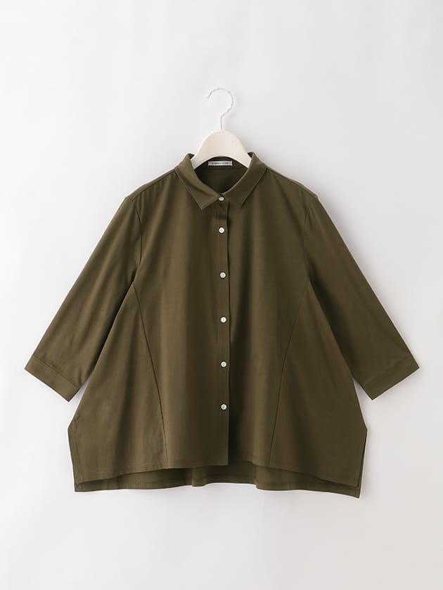 【シンプルライフ】シンプルカットソーシャツ