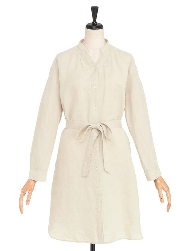 【シンプルライフ】リトアニアリネン:へリンボン羽織ジャケット