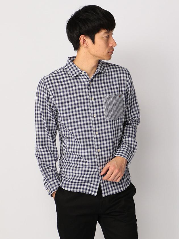 ダブルガーゼギンガムチェックシャツ(Men's)