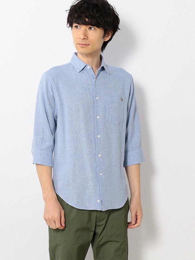 ドライタッチ綿麻7分袖シャツ