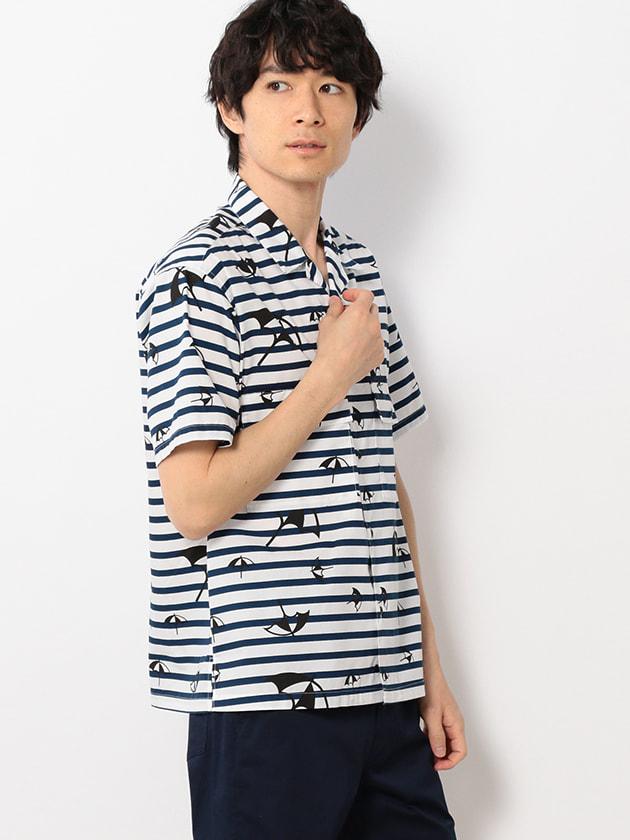 ロゴプリントオープンカラーシャツ(Men's)