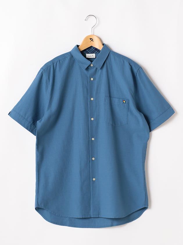 ドビー×パナマチェック半袖シャツ(Men's)