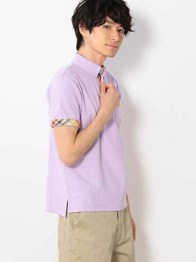 ハウスチェック使い鹿の子ポロシャツ(Men's)