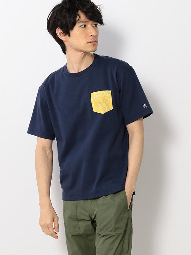ライトポンチペイズリーポケットTシャツ(Men's)