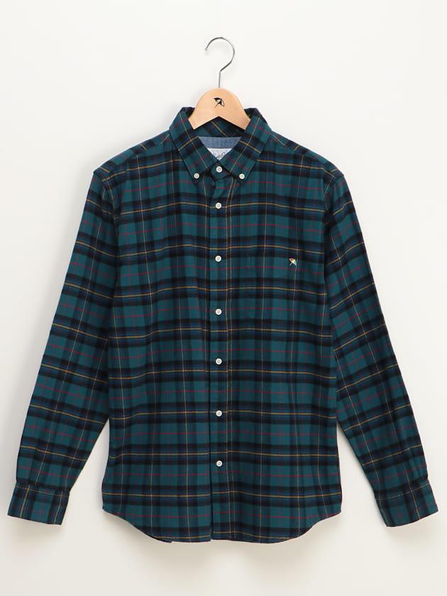 【ファミリー展開】タータンチェック柄コットンフランネルシャツ(MEN'S)