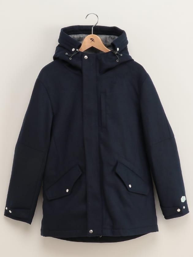 【保温機能素材】メルトン中綿コート