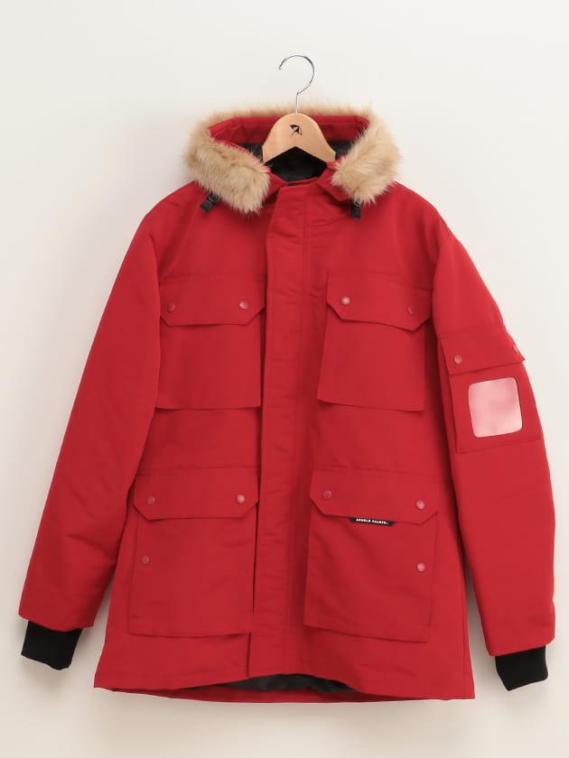 【保温性・吸湿発熱機能】中綿マウンテンコート