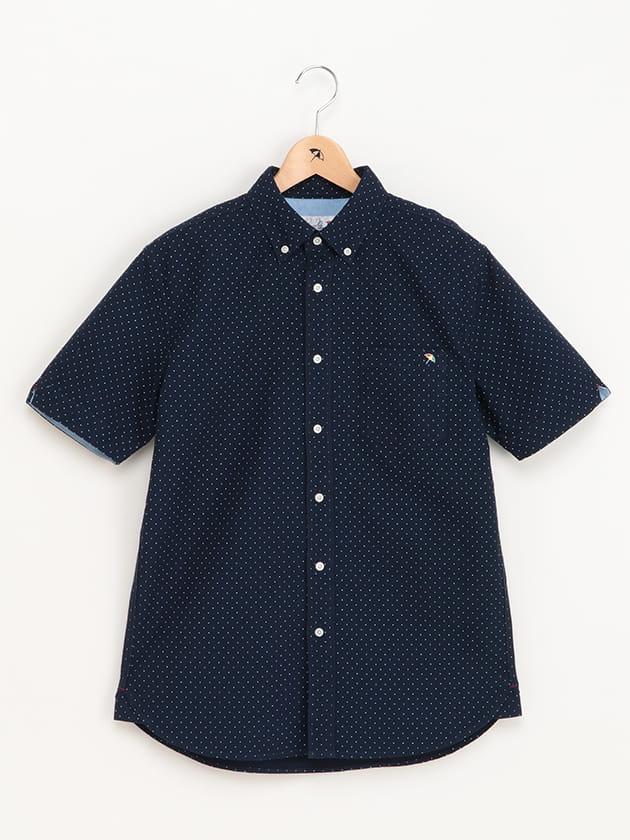 ドットプリントオックスフォード半袖シャツ