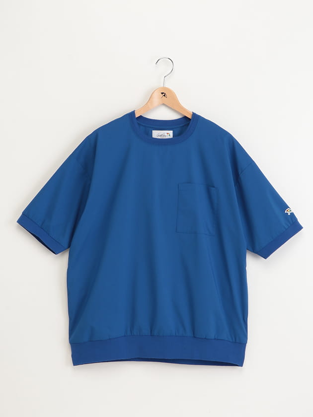 リップストップリブ使い半袖Tシャツ