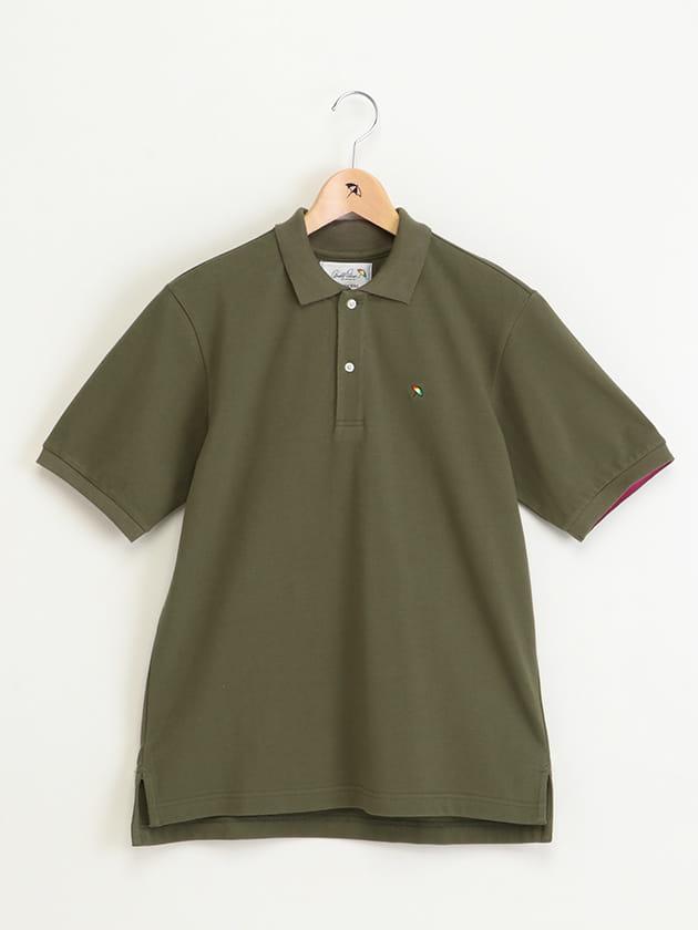 エリ裏カラー鹿の子ポロシャツ