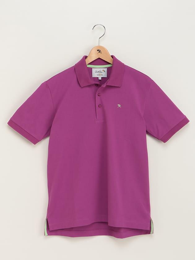 カラバリ鹿の子ポロシャツ