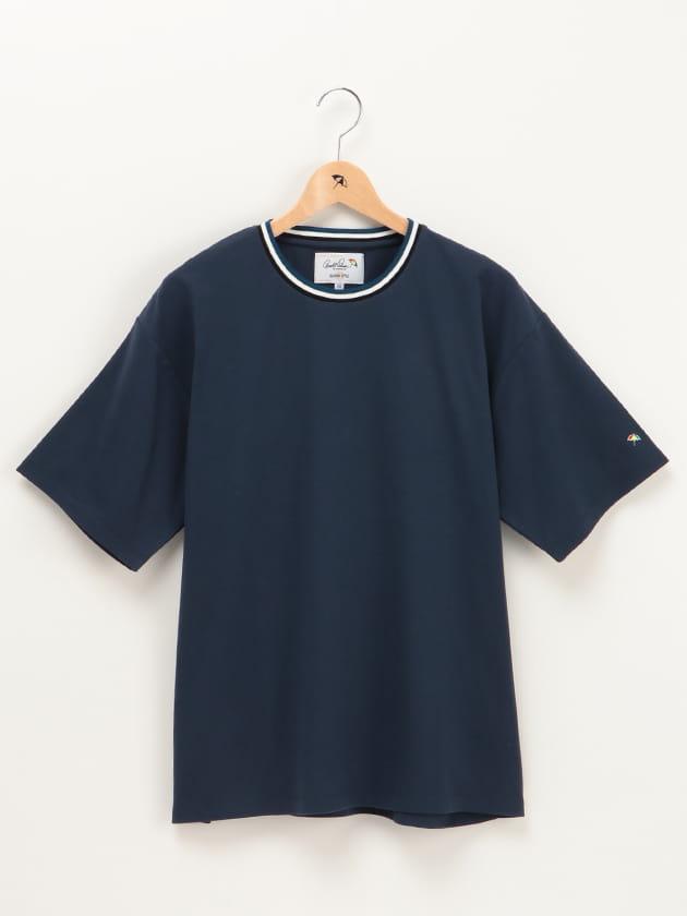 【店舗限定】カラーラインリブ使いクルーネックTシャツ(Men's)