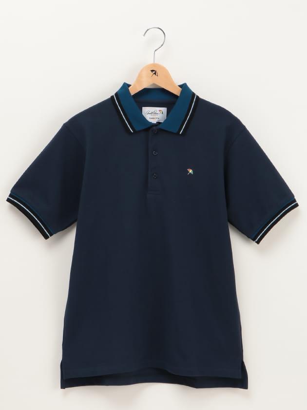 【店舗限定】カラーラインリブ使いポロシャツ(Men's)