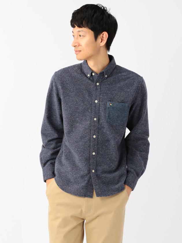 異素材ポケットジャズネップシャツ