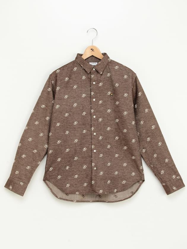 【WEB・一部店舗限定】apロゴジャカードシャツ