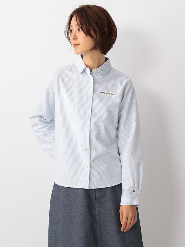 【WEB・一部店舗限定】ストライプオックスシャツ(Ladies')