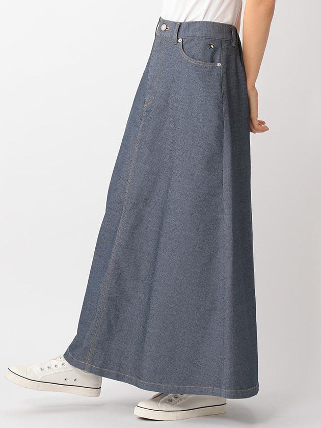 ストレッチデニムロングスカート