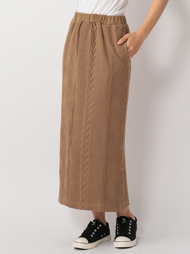 【WEB・一部店舗限定】ケーブルジャカードスカート