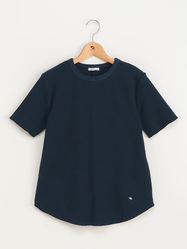 バックスリットリブTシャツ