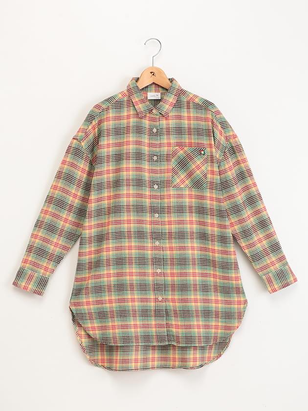 リバイバルチェックチュニックシャツ