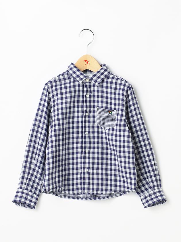ダブルガーゼギンガムチェックシャツ(Kid's)